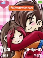 Cutest Emo Love theme screenshot