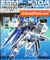 Gundam Freedom theme screenshot