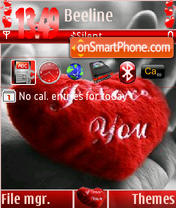 I Love U Ver3 S60v3 theme screenshot
