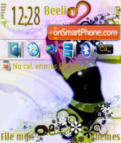 Girl In The Wind II S60V3 Theme-Screenshot