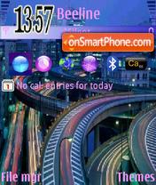 Night City theme screenshot