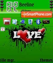 Green Abstract Love es el tema de pantalla