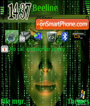 Matrix Face theme screenshot