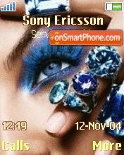 Glamour Blue Eyes tema screenshot
