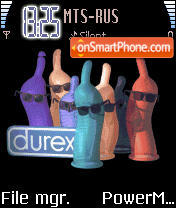 Animated Durex theme screenshot