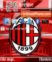 AC Milan theme screenshot