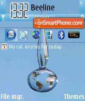 Earth Drop theme screenshot