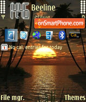 3D Sunset Theme-Screenshot