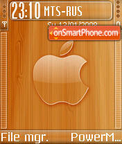 Glass Wood Apple theme screenshot
