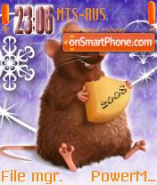 Mouse New Year es el tema de pantalla