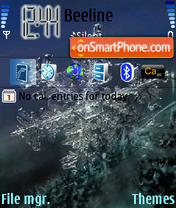 Snow tema screenshot