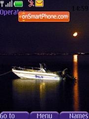 Boat In Moonlight theme screenshot
