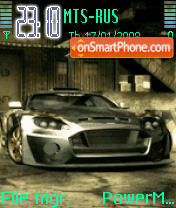 Animated NFS Cars theme screenshot