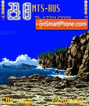 Animated Beach theme screenshot