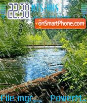 Animated Rain es el tema de pantalla