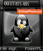 Black Tux theme screenshot