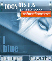 Blue Emotions theme screenshot