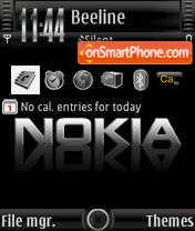 Nokia theme tema screenshot