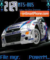 Focus Rally theme screenshot