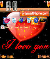 I Love You theme screenshot