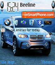 Bmw X6 Theme theme screenshot