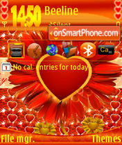 Love Valentine S60v3 theme screenshot