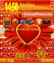 Скриншот темы Love Valentine S60v3