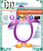 Happy Penguin es el tema de pantalla