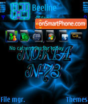 Nokia N73 01 theme screenshot
