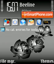 Скриншот темы Black Roses