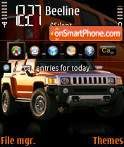 Hummer H3 02 theme screenshot