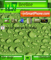 Green Drop s60v3 theme screenshot