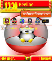 Tux s60v3 theme screenshot