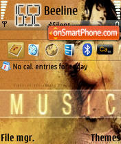 Music Girl theme screenshot