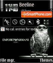 Скриншот темы Armani 02