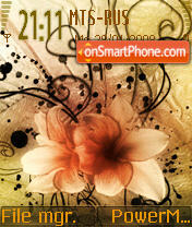 Scent Of Dry Flowers S60v2 theme screenshot