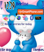 Blue Bear Valentine theme screenshot