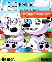 Скриншот темы Dog Miss U