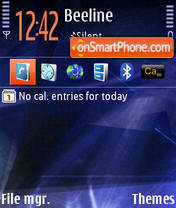 Скриншот темы Nokia Nseries 3