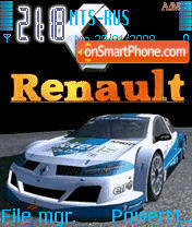 Animated Renault Megane theme screenshot