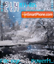 Animated Snow theme screenshot
