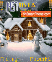 Animated Snow Home theme screenshot