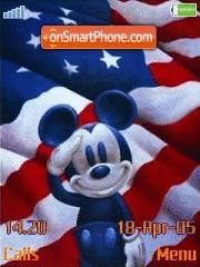 Скриншот темы Mickey Salute Us