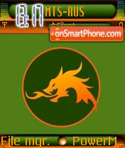 Afro Dragon tema screenshot