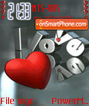 Love Heart Animated theme screenshot