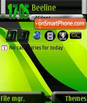 Green Abstract s60v3 theme screenshot