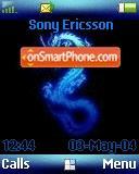 Blue Dragon Z500 theme screenshot