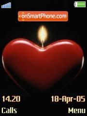 Love Candle es el tema de pantalla