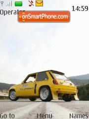 Renault R5 Turbo theme screenshot