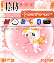 Скриншот темы Pink&White
